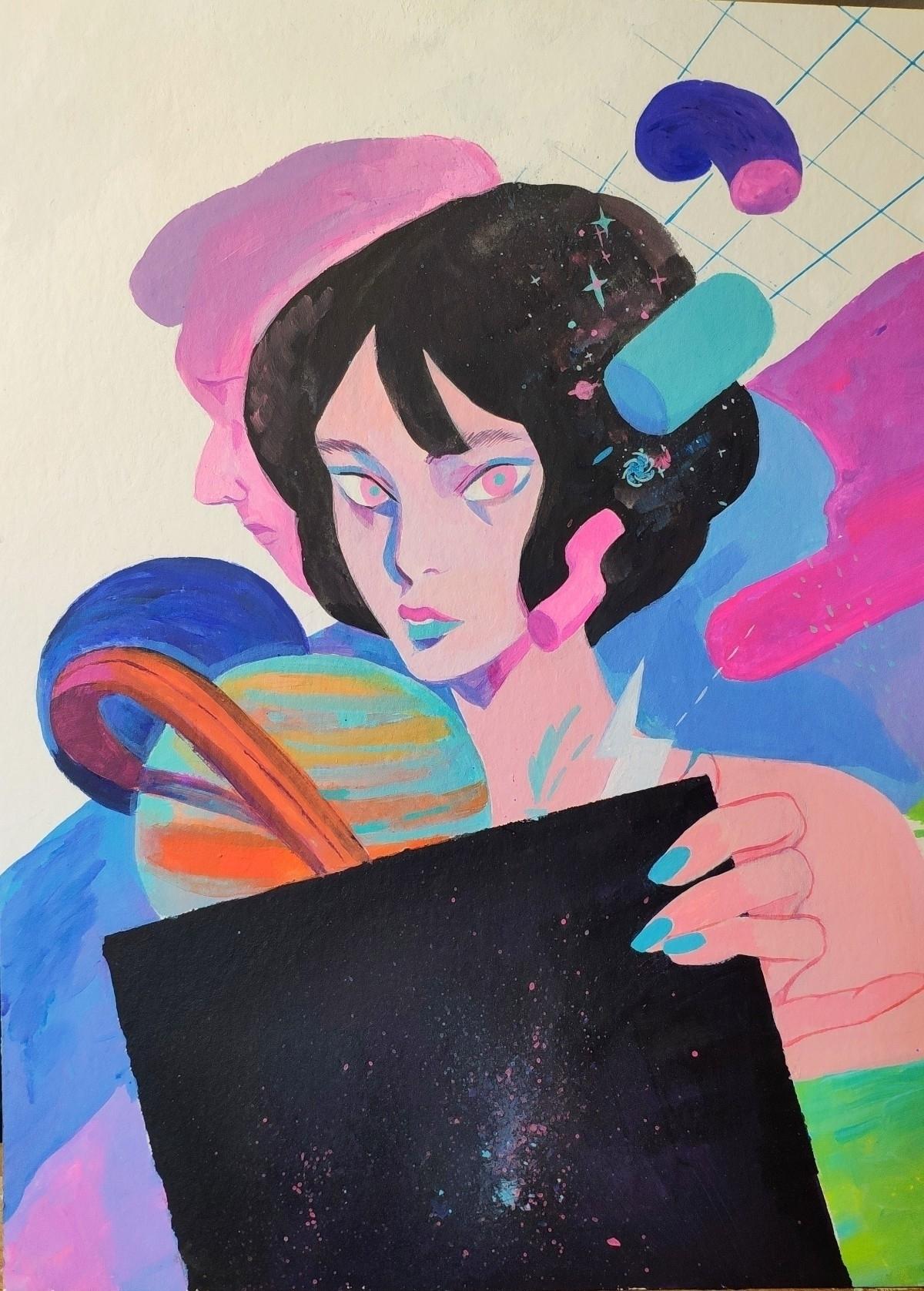 Picking Record Acrylic Paper 24 - joysuke | ello