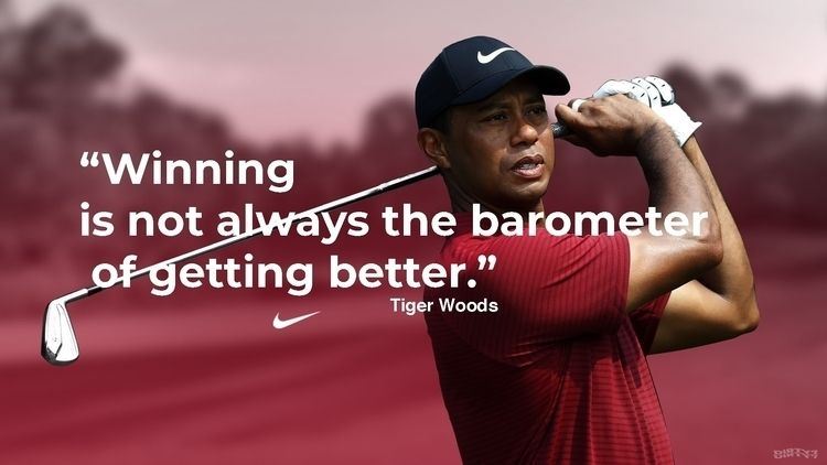 WOODS - Winning barometer - golf - dirty7 | ello