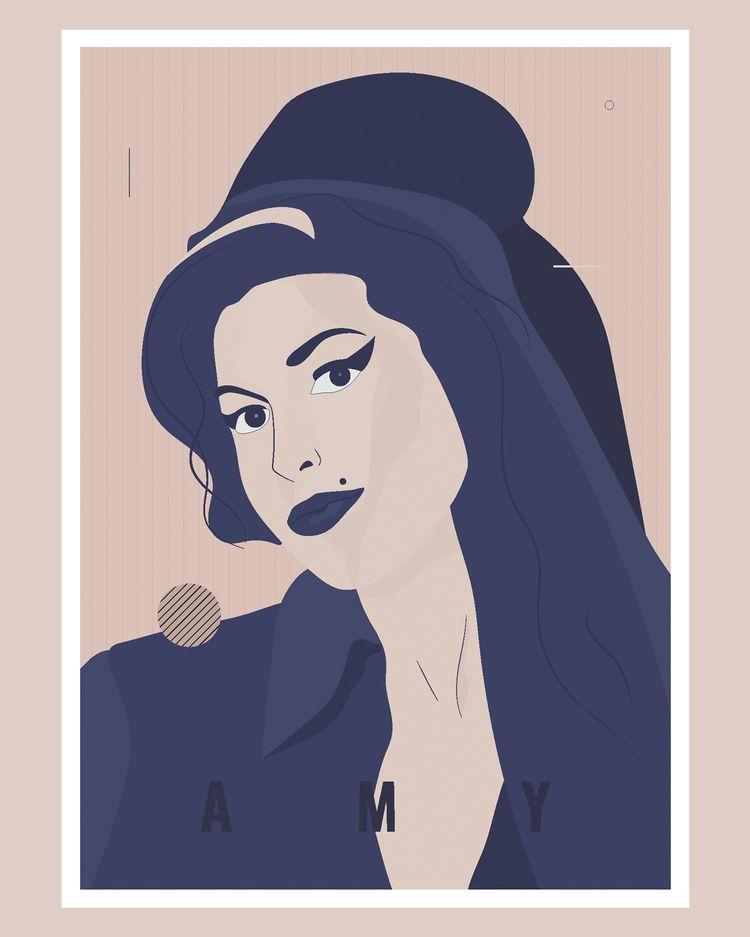 Plakat Amy Winehouse jest kolej - ewelinagaska | ello