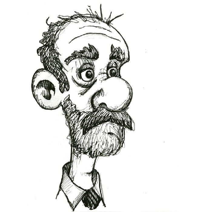 Sketch 019 - caricature, time m - 999sketches | ello