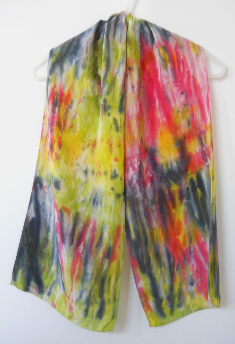 HAND DYED SILK Scarf - Chartreu - theresa-marchione | ello