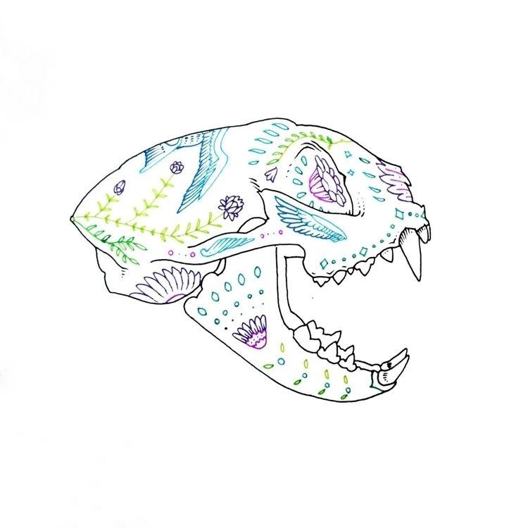 Sugar Skulls Gato - samariascreative - samarias | ello
