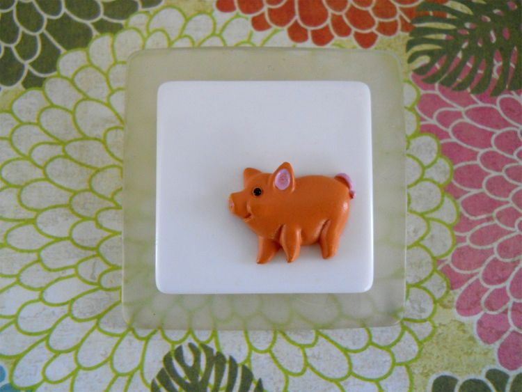 Pink Pig Brooch  - giftideas, pig - theresa-marchione | ello