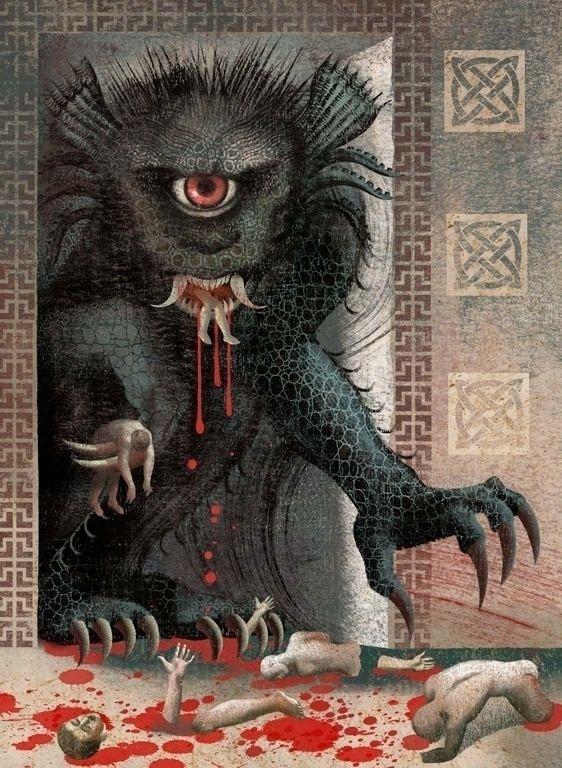 Anna Elena Balbusso - Grendel - illustration - m-h-l-curates | ello