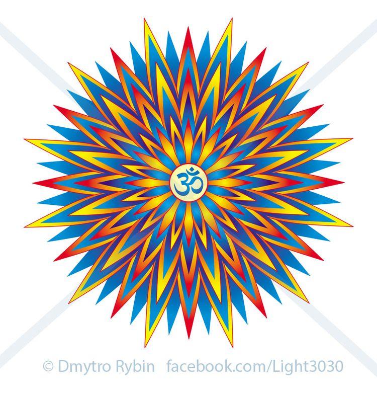 Mandala Aum / Om Ohm sign - Circular - dmytroua | ello