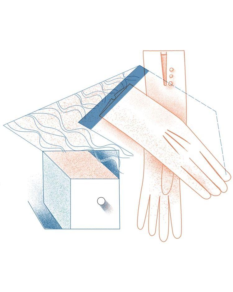 Gloves Drawing Warp Weft Memory - cesdavolio | ello