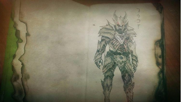 drawing daedric armor Skyrim. b - dark_uroboros | ello