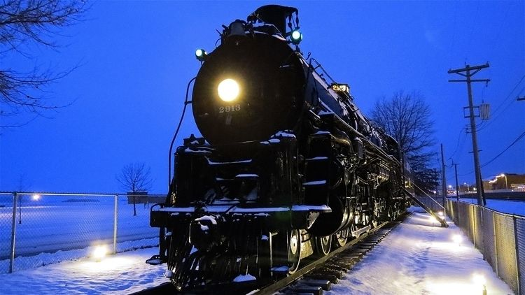 Santa Fe 2913 steam train snow - 844steamtrain | ello