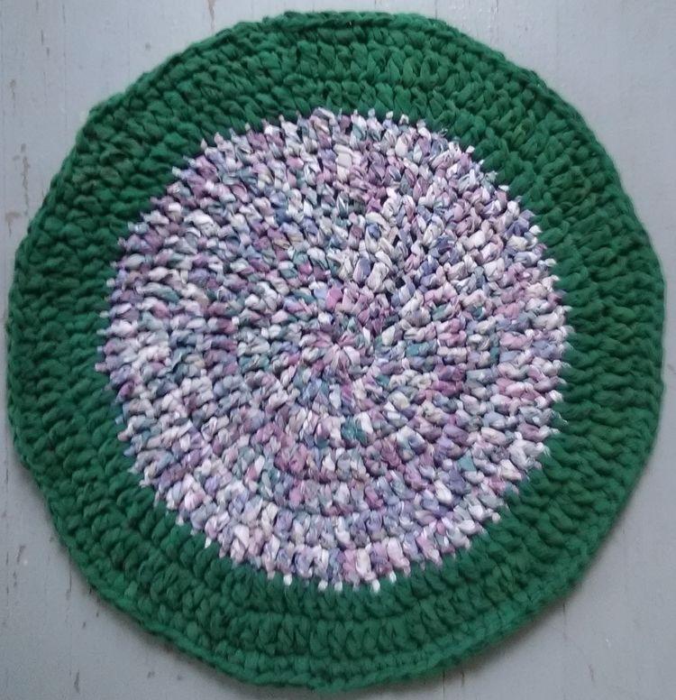 SOLD...Handmade Crochet Rag Rug - maryherrigfiberarts   ello