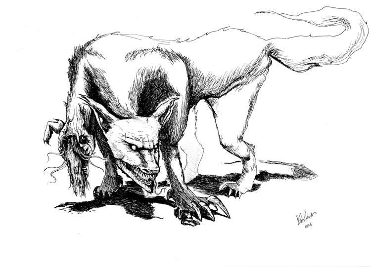 Wolf Garden Shadows - art, illustration - nikita_r | ello