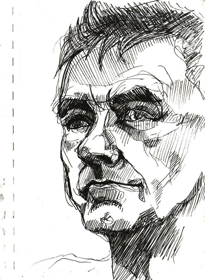 sketch man, 2013 - drawing - aleksandrawiechowska | ello