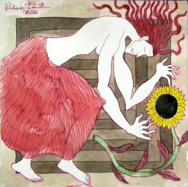 Monday mellow yellow - art, sun - pedrarochaart | ello