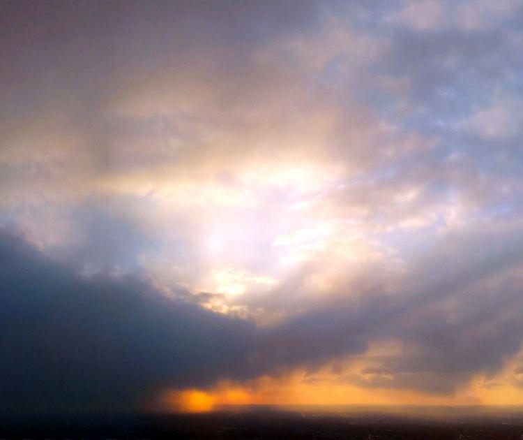 Blues Oranges - sky, clouds - ranjiroo   ello