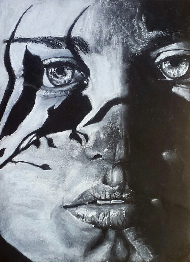 Ello World! post  - art, charcoaldrawing - bluecreations | ello