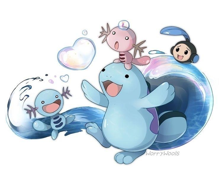 amphibifriends - pokemon, quagsire - bichon | ello