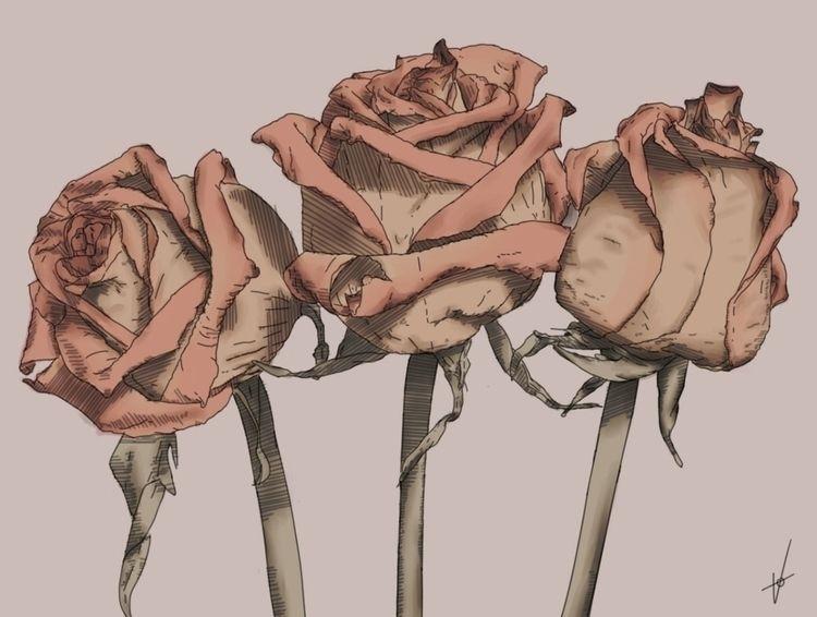 Roses ii - art, stilllife, roses - antoniovegaart | ello