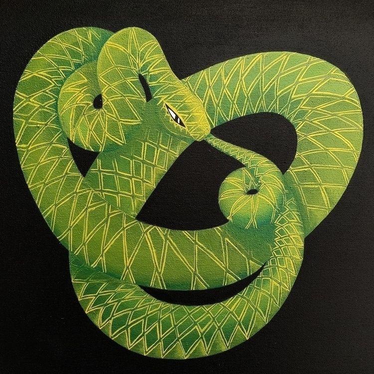 Oroborous ~ acrylic canvas - duneterrace | ello