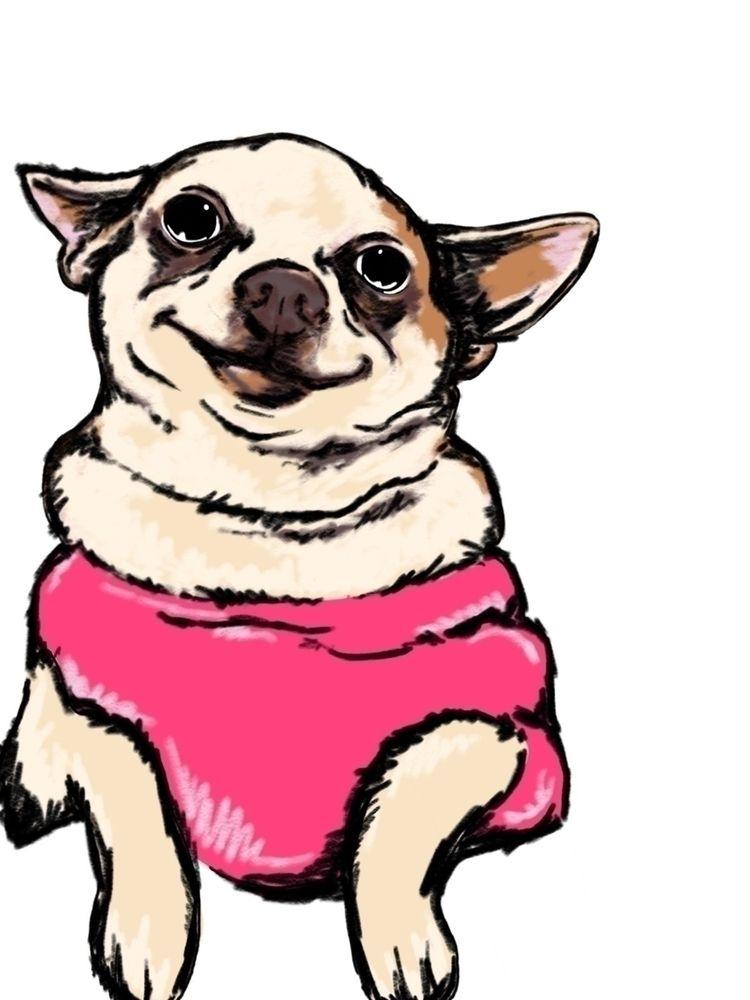 quick pup scribbles  - puppy, illustration - raymetheghost   ello