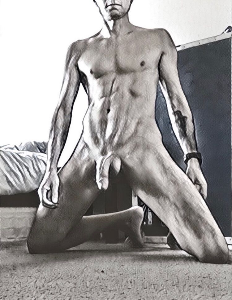 waiting  - cock, abs, nsfw, eroticart - sumfawkesfool | ello