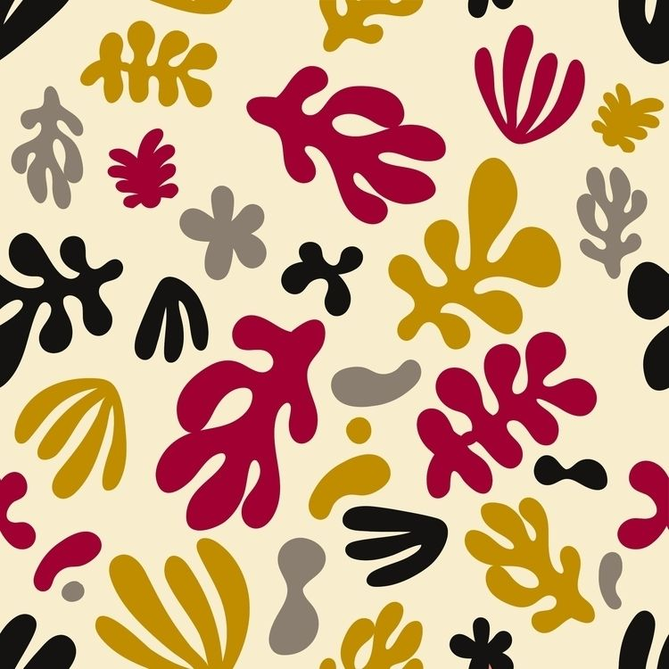 DEEP SEA DESERT pattern - yellow - bembureda | ello