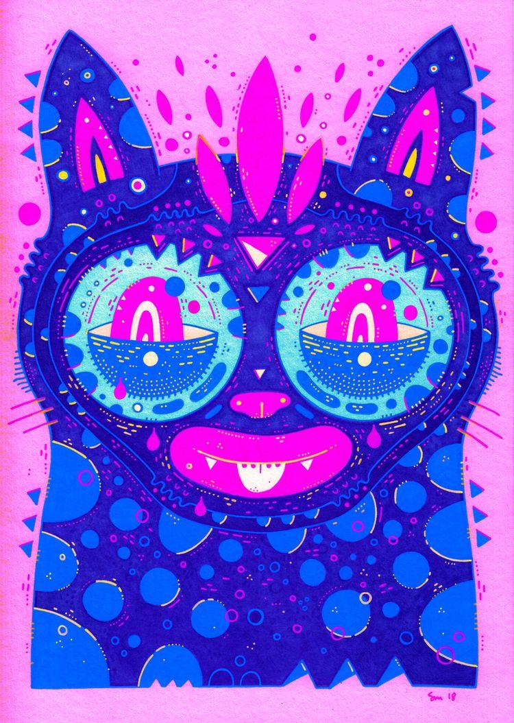 hard purple pink...  - ellocats - cosmicnuggets | ello