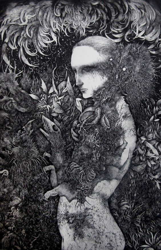 brilliant etching Japanese arti - beautifulbizarremagazine | ello
