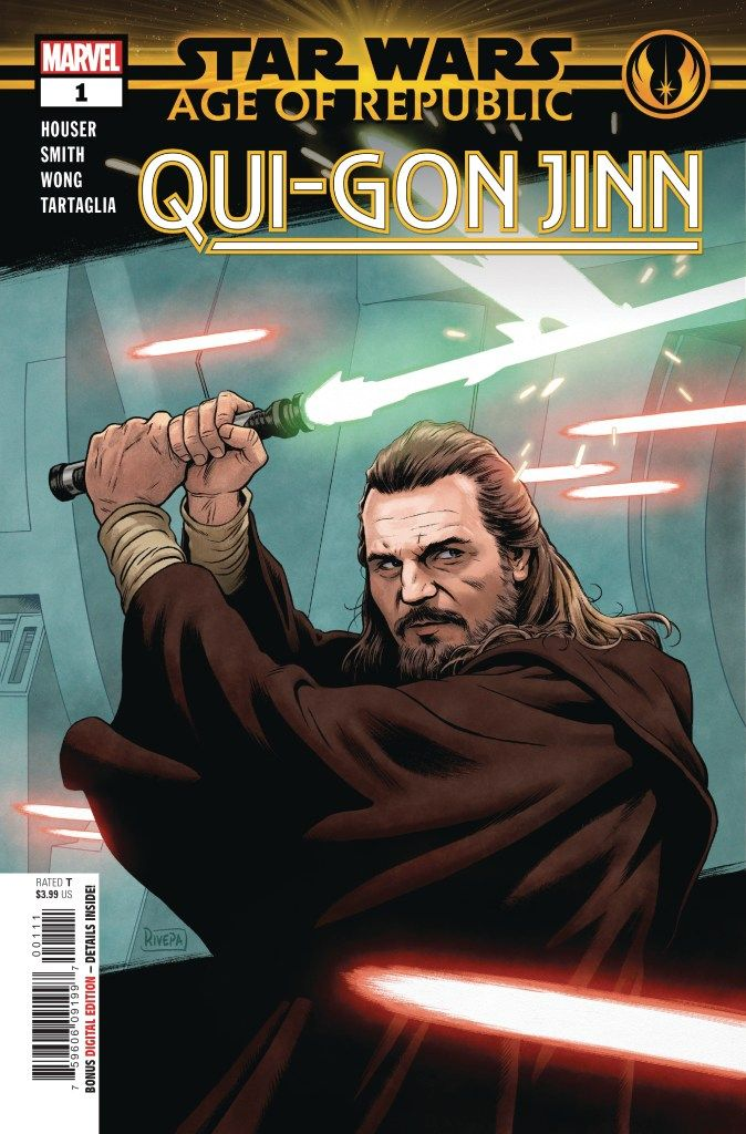 Star Wars Age Republic QUI-GON  - waldenwongart | ello