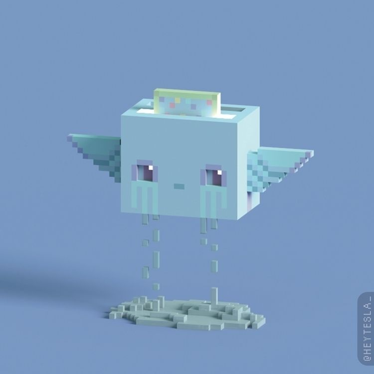 kinds days - 3d, kawaii, pastel - heytesla | ello