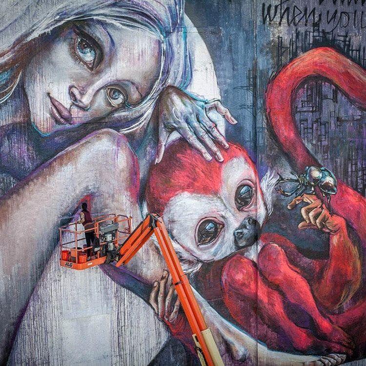 Check incredible mural HERAKUT - beautifulbizarremagazine | ello
