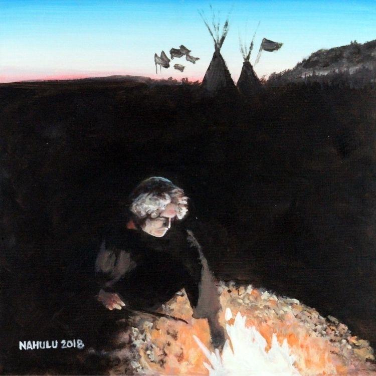 Sacred Fire Tommy Nahulu Acryli - bitfactory | ello