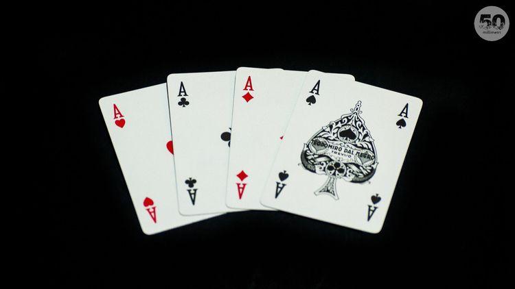 Poker - Assi, CarteDaGioco, PokerDAssi - 50millimetri   ello