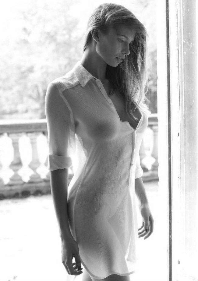 blackwhite, sheer, beauty, whitedress - curiouswanderluster | ello