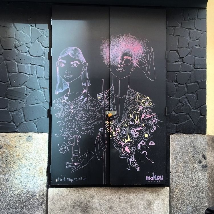 Couple - Madrid, CondeDuque, streetart - antoniofse | ello