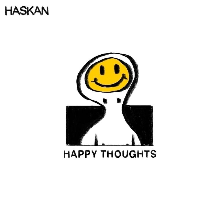 happy thoughts - illustration, smile - haskan | ello