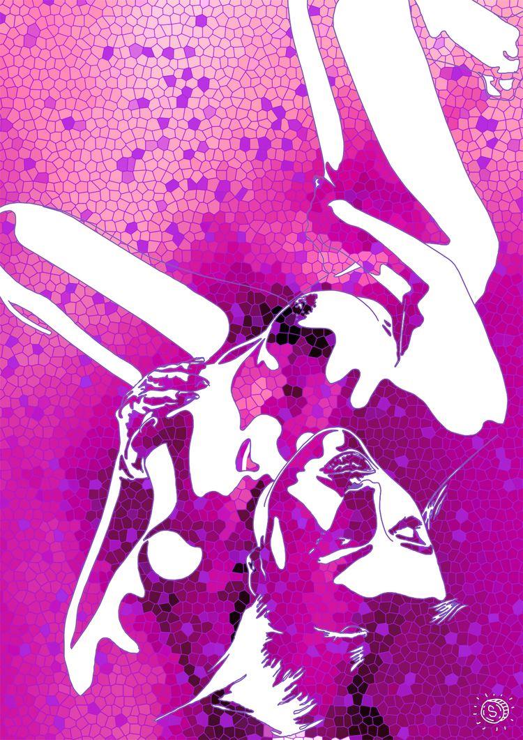 Touch Pink - art, illustration, minimalism - thespred | ello