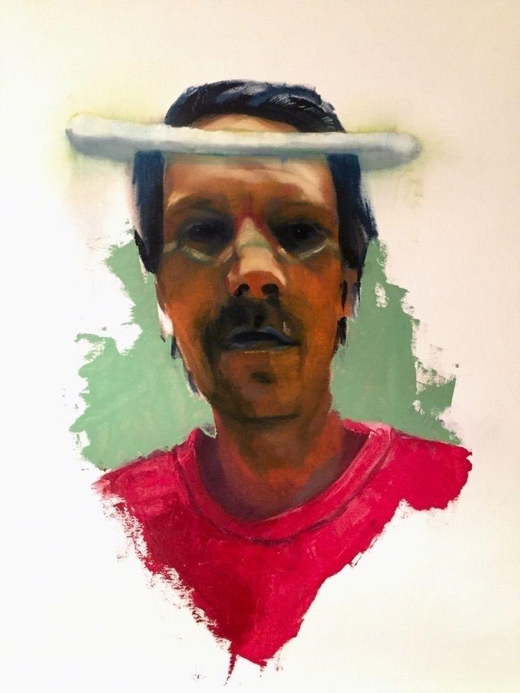 Selfportrait «angel» Oilpaintin - antikreativ | ello