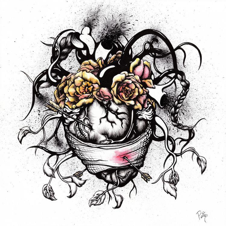 Wounded Frida (Portrait Kahlo)  - daryllpeirce   ello