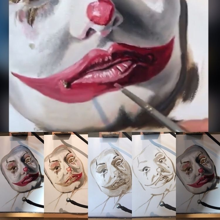 WiP, oilpainting, clown - guyusinu | ello