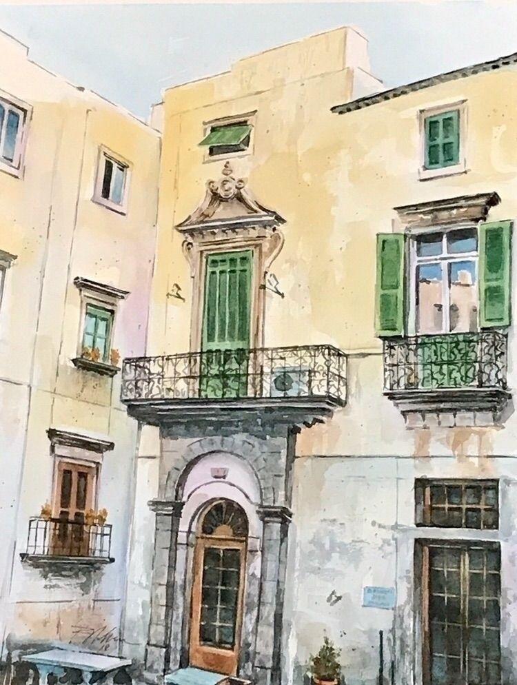 Ancient Balcony - Watercolor - rlnelsonmo | ello