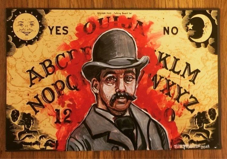 Hh Holmes ouija board painting - artbyjeffbertrand | ello