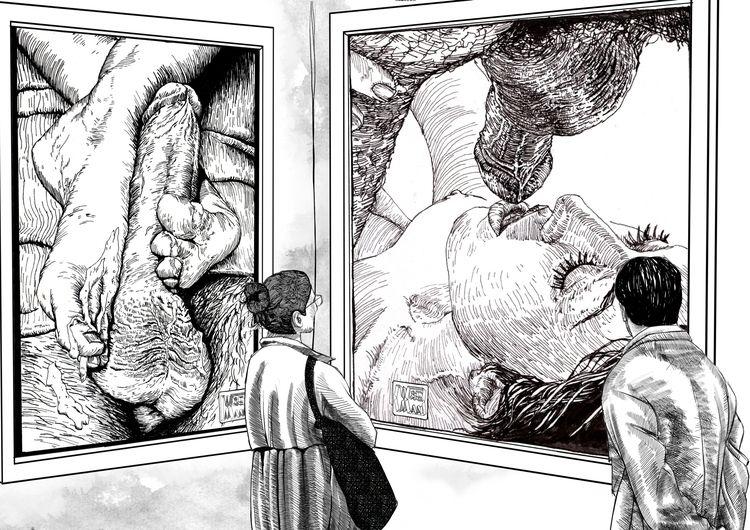 art, illustration, drawing, draw - wiseman_art | ello