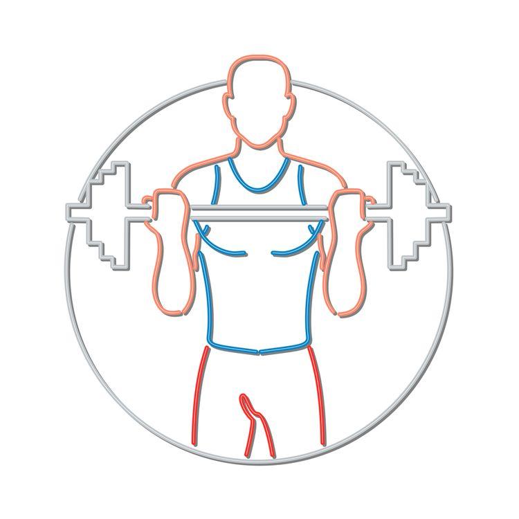 Athlete Lifting Barbell Neon Si - patrimonio | ello