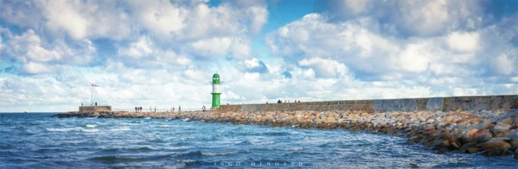 Green Lighthouse sea - lighthouse - ingomenhard | ello
