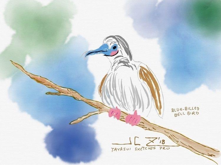 Blue-Billed Bellbird Poppencock - leapingbluehare   ello
