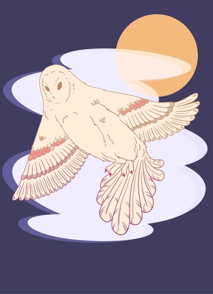 owl, barnowl, moon, moonlight - terastar | ello