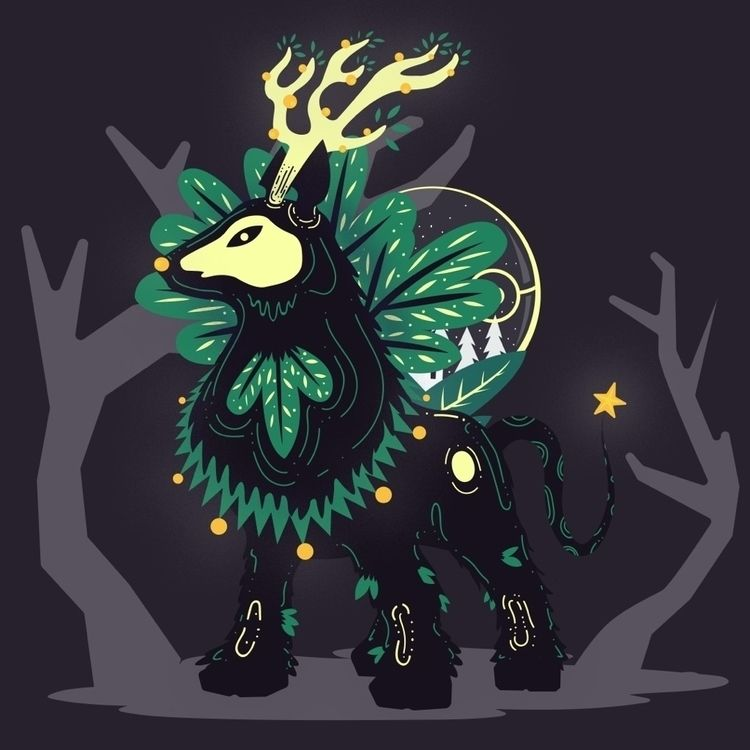 pokemon, characterdesign, illustration - galekto   ello