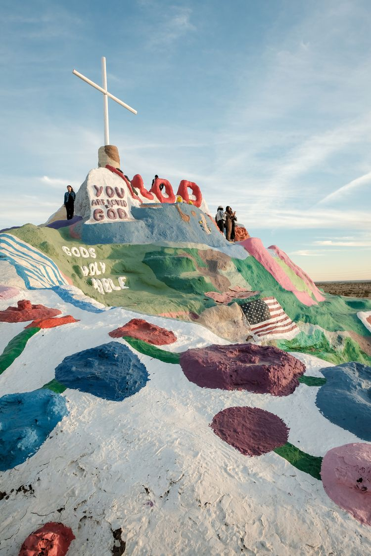 Salvation Mountain, roadside ar - kch | ello