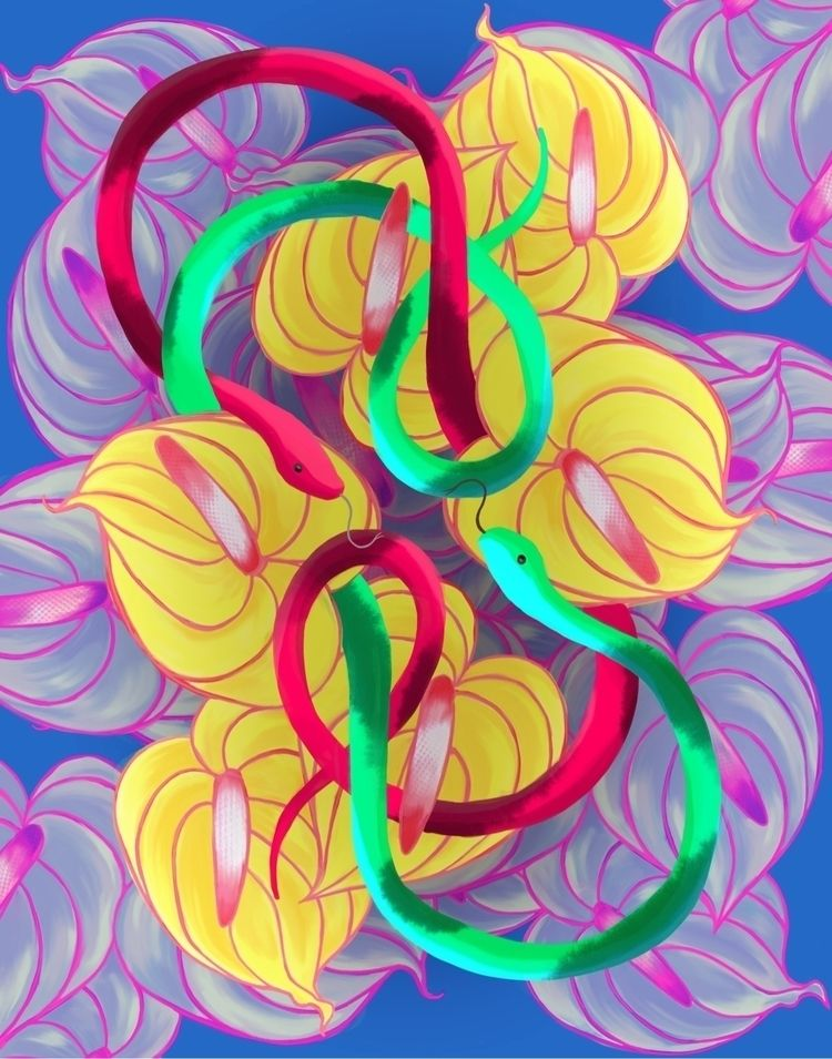 symmetry, serpents, anthurium - terastar | ello