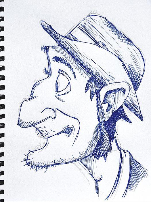 Sketch 063 - gentleman pen sket - 999sketches | ello