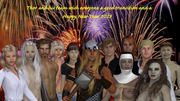 Happy Year 2019 - 3d, 3d_art, art - thor3d   ello